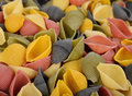 Background of colorful pasta closeup Royalty Free Stock Photo
