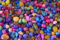 Background of colorful polished stones Royalty Free Stock Photo