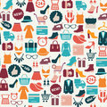 Background with colorful shopping icons Royalty Free Stock Photo