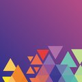 Background with Colorize Triangle Royalty Free Stock Photo
