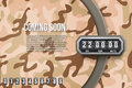 Background Coming Soon and countdown timer. Camo Vector. Royalty Free Stock Photo