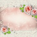 Background for congratulation with beautiful rose Royalty Free Stock Photography