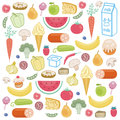 Background consisting of food in the vector Royalty Free Stock Photo