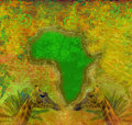 Background with continent of africa grunge Royalty Free Stock Photography