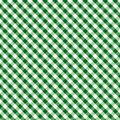 Background cross gingham green seamless weave Arkivbild