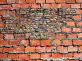Background Of Crumbling Red Brick Wall Royalty Free Stock Photo