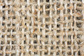 Background of crumpled burlap close up Royalty Free Stock Images