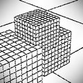 Background cubes meshwork engraved dots and spots Royalty Free Stock Image