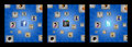 Background with cubes and user icons of men and women united by the social network Stock Image