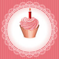 Background with cupcake Stock Photo
