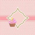 Background with cupcake and decoration Royalty Free Stock Photo