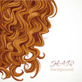 Background with curly brown hair for your text Royalty Free Stock Image