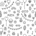 Background for cute little boys and girls. Hand drawn children drawings Royalty Free Stock Photo
