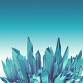 Background with d arctic blue crystal shapes abstract round broken Stock Photography