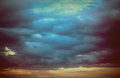 Background of dark clouds before a thunder-storm Royalty Free Stock Photo