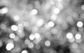 Background of defocus bokeh lights in black and white Royalty Free Stock Photo