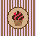 Background with delicious cupcake Royalty Free Stock Image