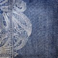 Background denim texture lace pattern vintage Stock Photography