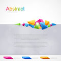 Background for design with colored geometric abstraction Stock Photography