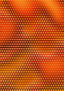 Background design orange with halftone effect Stock Photo