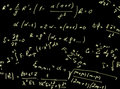 Background with different mathematical expressions Royalty Free Stock Photo