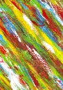 Background from different strokes of red, yellow, green, white and blue paint Royalty Free Stock Photo