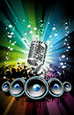 Background for Disco Event Flyer Royalty Free Stock Photos
