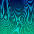 Background of distorted lines shades of blue against a dark vector image waves color Royalty Free Stock Photography