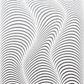 Background of distorted lines shades gray on a white vector image Royalty Free Stock Photos