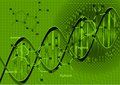 Background with dna the model and the formulas of Stock Images