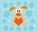 Background with dog cartoon funny Royalty Free Stock Images