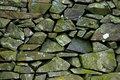 Background of a dry-stone wall Royalty Free Stock Images