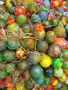 Background with Easter Eggs Royalty Free Stock Photo