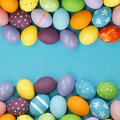 Background with easter eggs colorful painted Royalty Free Stock Photography