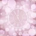 Background with elegant clock vector Stock Photo