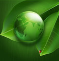 Background on environmental issues green vector Royalty Free Stock Images