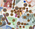 Background of  euro banknotes Royalty Free Stock Photo