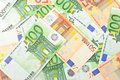 Background from  euro banknotes Stock Photo