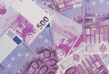 Background euro banknotes close up Stock Images
