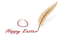 Background feather easter congratulation illustration Royalty Free Stock Images
