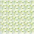 Background filled with bio eco and environmental icons and symbo made of symbols Stock Images