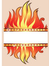 Background fire frame vector 库存照片