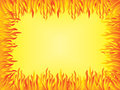 Background with flames border yellow Royalty Free Stock Photo