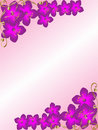 Background floral corner border Stock Photo