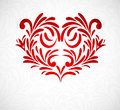 Background with floral heart Royalty Free Stock Image