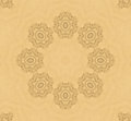 Background with floral pattern beige abstract Royalty Free Stock Photography