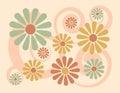Background floral peach Στοκ Φωτογραφίες