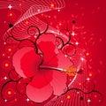 Background floral vector 免版税库存照片