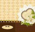 Background with flowers and ornaments vintage Royalty Free Stock Images