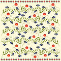Background with flowers seamless folk pattern Stock Photography